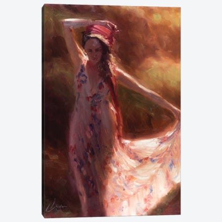 The Red Scarf Canvas Print #CCK68} by Christopher Clark Canvas Art