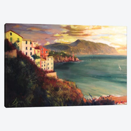The West Coast Of Italy Canvas Print #CCK69} by Christopher Clark Canvas Art