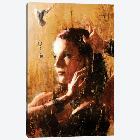 Blissfully Oblivious Canvas Print #CCK6} by Christopher Clark Canvas Wall Art