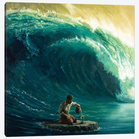 Tidal Wave Canvas Print #CCK70} by Christopher Clark Art Print