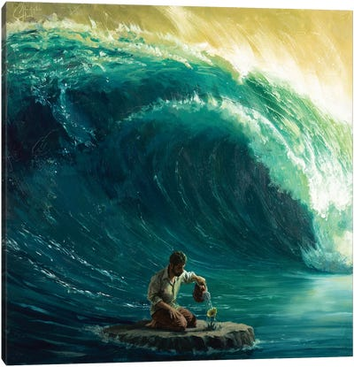 Tidal Wave Canvas Art Print