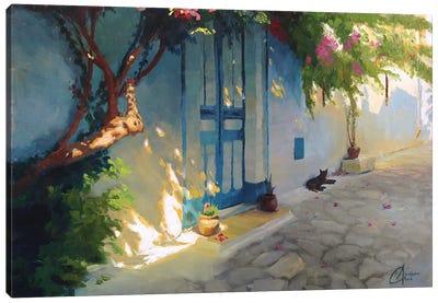 Tunisia - The Sleepy Cat Canvas Art Print