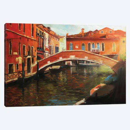 Venice In The Afternoon Canvas Print #CCK77} by Christopher Clark Canvas Wall Art