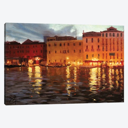 Venice Nights II Canvas Print #CCK78} by Christopher Clark Canvas Art Print