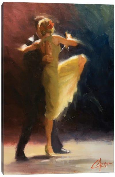 Blue Tango Canvas Art Print