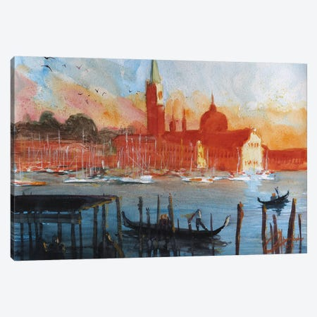 Venice, Italy - San Giorgio Maggiore Canvas Print #CCK80} by Christopher Clark Canvas Artwork