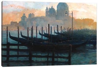 Venice, Italy - Sunset Gondolas II Canvas Art Print