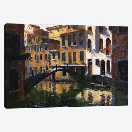 Venice, Italy, Quiet Reflections II Canvas Print #CCK84} by Christopher Clark Art Print