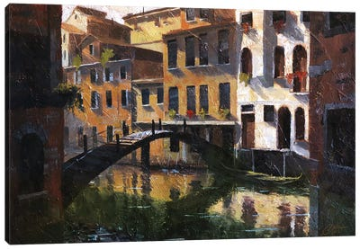 Venice, Italy, Quiet Reflections II Canvas Art Print
