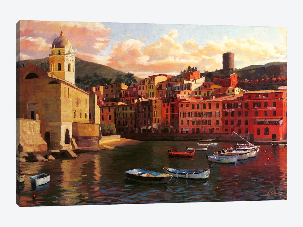 Vernazza Harbor II 1-piece Canvas Print