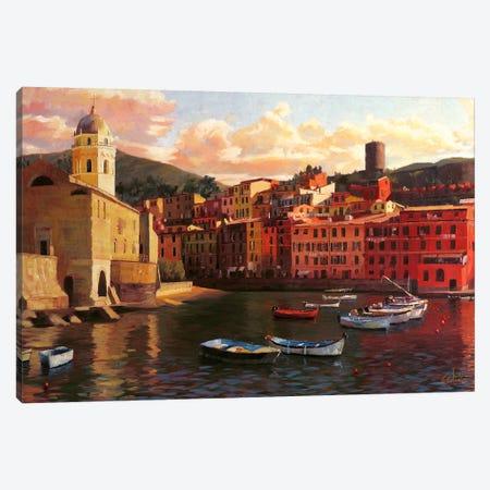 Vernazza Harbor II 3-Piece Canvas #CCK85} by Christopher Clark Canvas Print