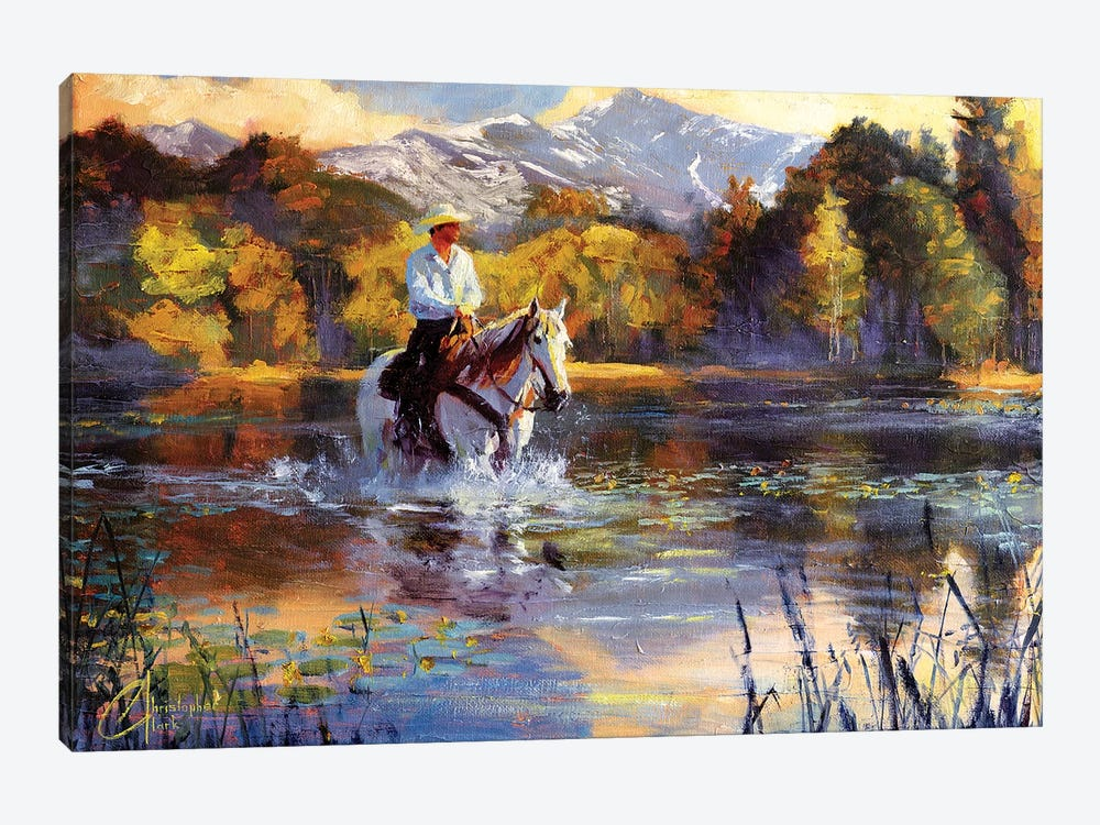 Wading Upsream by Christopher Clark 1-piece Canvas Art Print