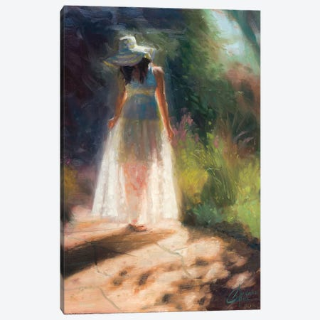 Walking In The Garden Canvas Print #CCK89} by Christopher Clark Canvas Art