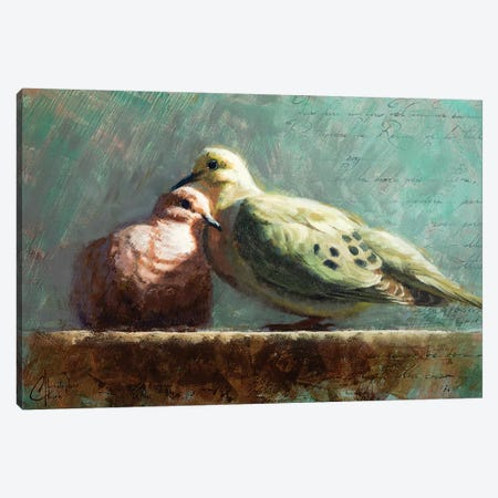Doves In Love Canvas Print #CCK95} by Christopher Clark Canvas Art