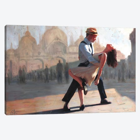 Dancing In The Piazza Canvas Print #CCK9} by Christopher Clark Canvas Art Print