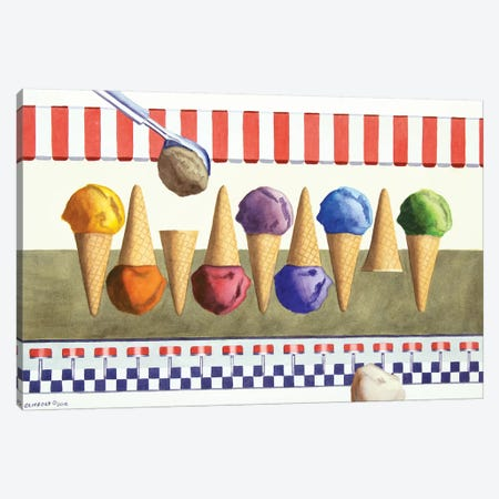 Ice Cream Shoppe Canvas Print #CCL11} by Cory Clifford Canvas Art
