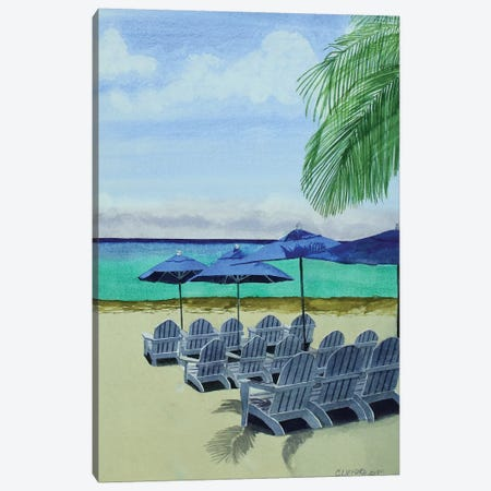 Cozumel Cabana Canvas Print #CCL22} by Cory Clifford Canvas Art Print