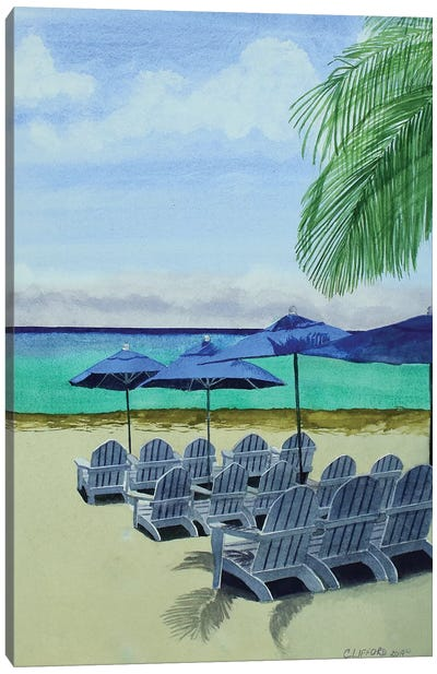 Cozumel Cabana Canvas Art Print