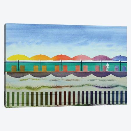 Watercolor Beach Canvas Print #CCL23} by Cory Clifford Art Print