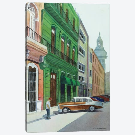 Bel Air In Havana Canvas Print #CCL27} by Cory Clifford Canvas Artwork