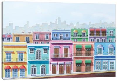 Caribbean Neighborhood Canvas Art Print