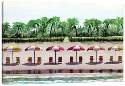 Plantation Beach Canvas Art Print