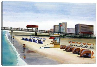 Beach Walk Pier Canvas Art Print