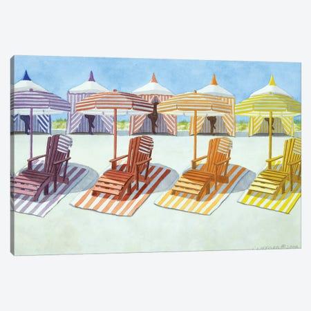Cabana Beach Canvas Print #CCL6} by Cory Clifford Canvas Print
