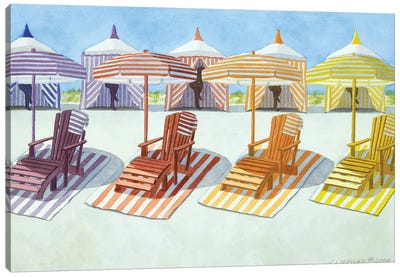 Cabana Beach Canvas Art Print