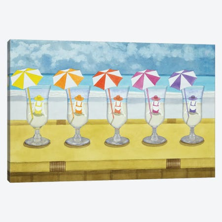 Drinks On The Beach Canvas Print #CCL9} by Cory Clifford Canvas Artwork
