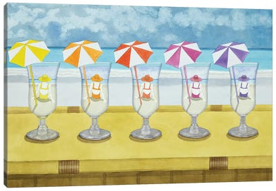 Drinks On The Beach Canvas Art Print