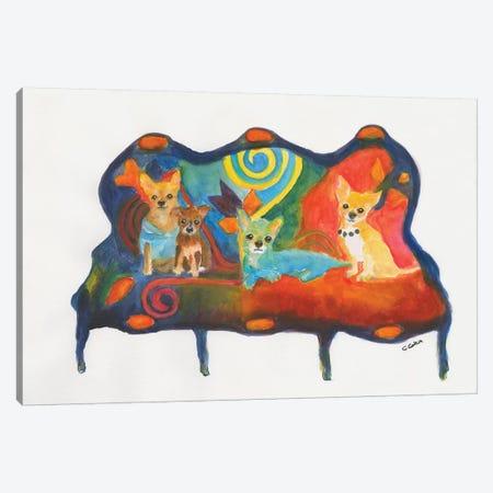 Chihuahua Trio Canvas Print #CCM12} by Connie Collum Canvas Print