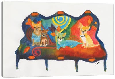 Chihuahua Trio Canvas Art Print