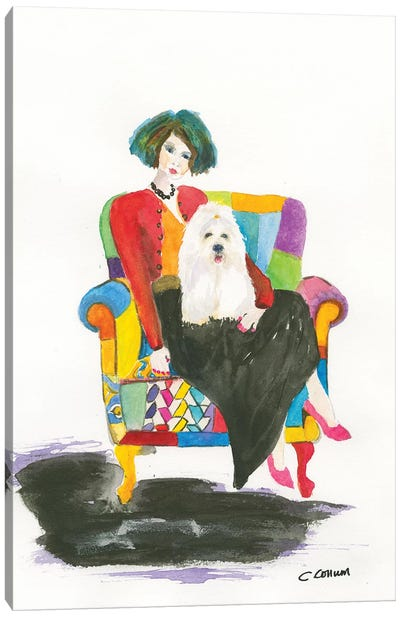 Coton De Tulear Lady Canvas Art Print