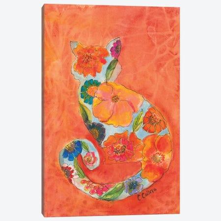 Fleur Cat Canvas Print #CCM17} by Connie Collum Canvas Art