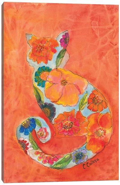 Fleur Cat Canvas Art Print