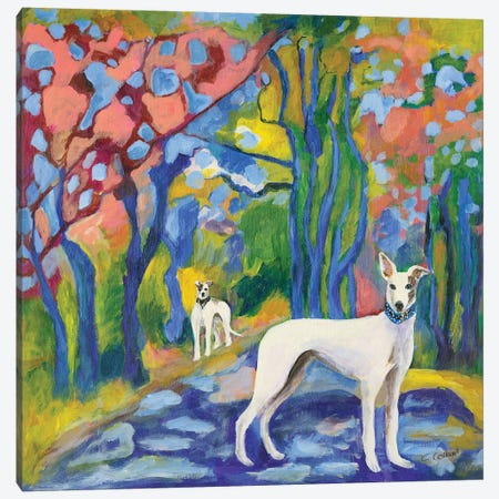 Greyhound Stroll Canvas Print #CCM24} by Connie Collum Canvas Art Print