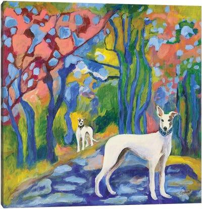 Greyhound Stroll Canvas Art Print