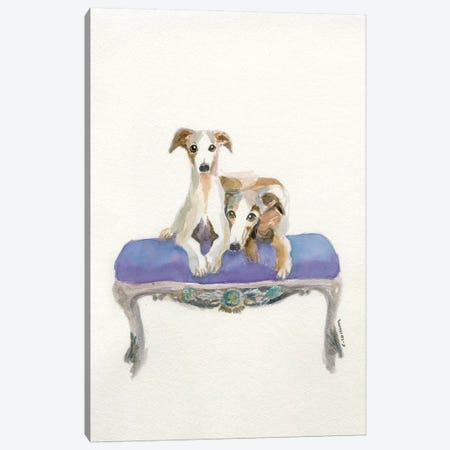 Italian Greyhound Love Canvas Print #CCM27} by Connie Collum Canvas Art Print