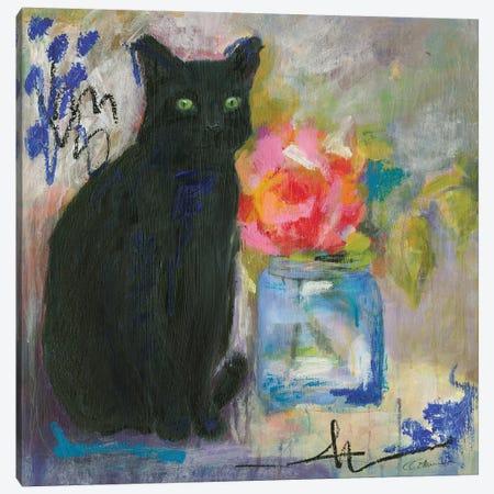 Just Love A Black Cat Canvas Print #CCM29} by Connie Collum Canvas Wall Art