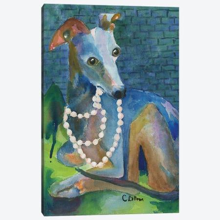 Always Wear Pearls Canvas Print #CCM2} by Connie Collum Canvas Art Print