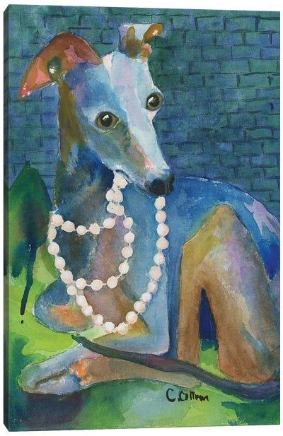 Always Wear Pearls Canvas Art Print