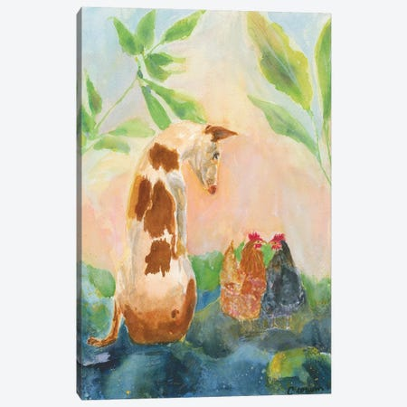 Let's Be Friends Canvas Print #CCM30} by Connie Collum Art Print