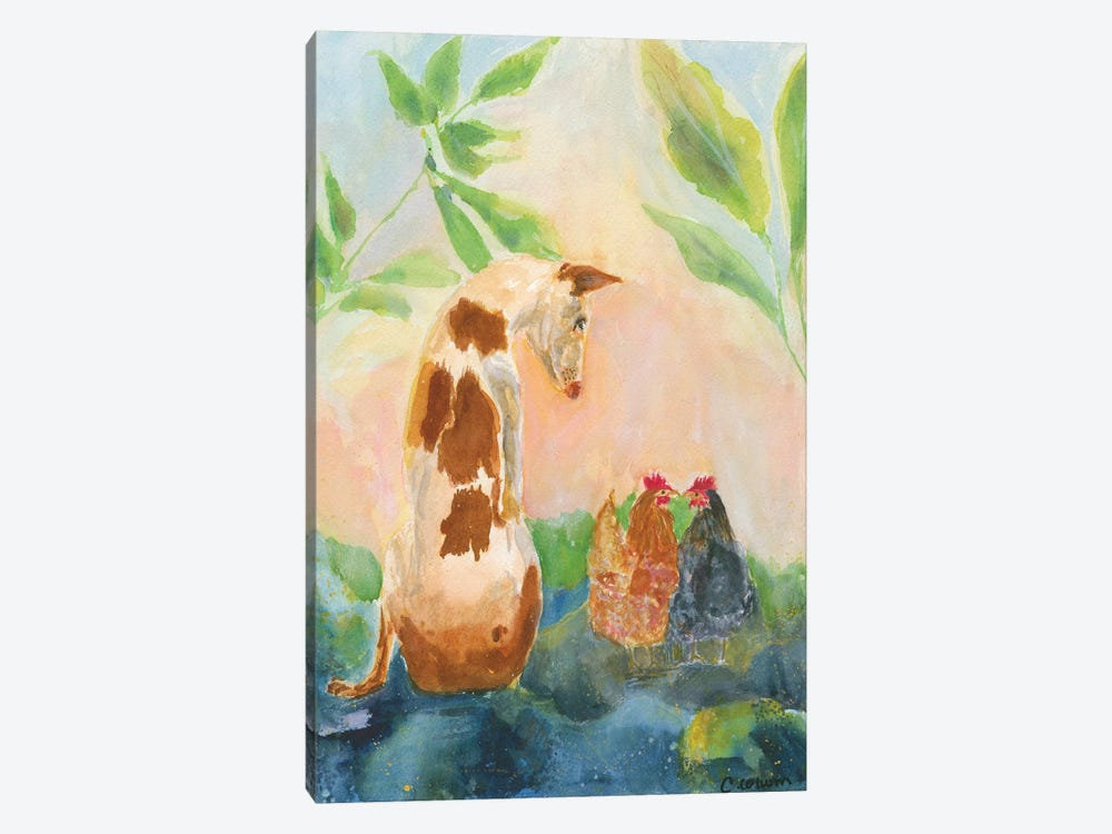 Let's Be Friends by Connie Collum 1-piece Canvas Print