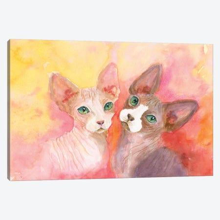 Love A Sphynx Canvas Print #CCM33} by Connie Collum Canvas Art Print