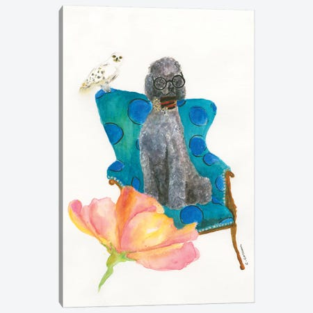 Love Potion Poodle Canvas Print #CCM36} by Connie Collum Canvas Wall Art