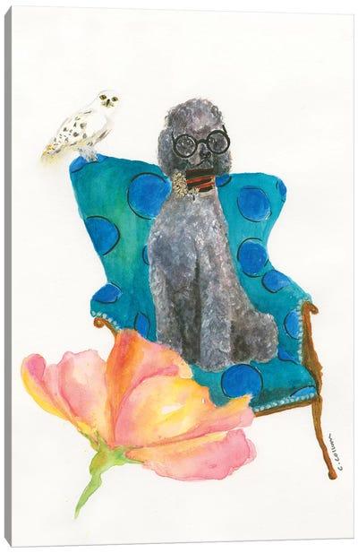 Love Potion Poodle Canvas Art Print