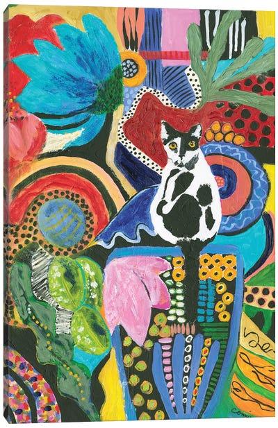 Moo Cat Mingle Canvas Art Print