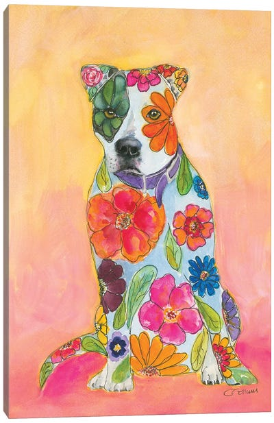 Pit Bulls Are Love Canvas Art Print