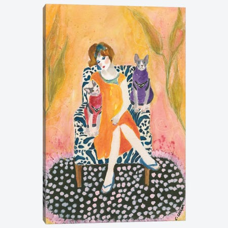 Sphynx Lady Canvas Print #CCM57} by Connie Collum Canvas Art